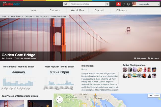 Pashadelic photography planning tool screenshot